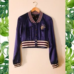 Bebe 💙 Adorable blue satin jacket